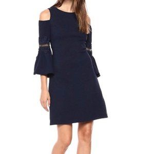 NWT Eliza J Lace Applique Cold Shoulder Dress 10P